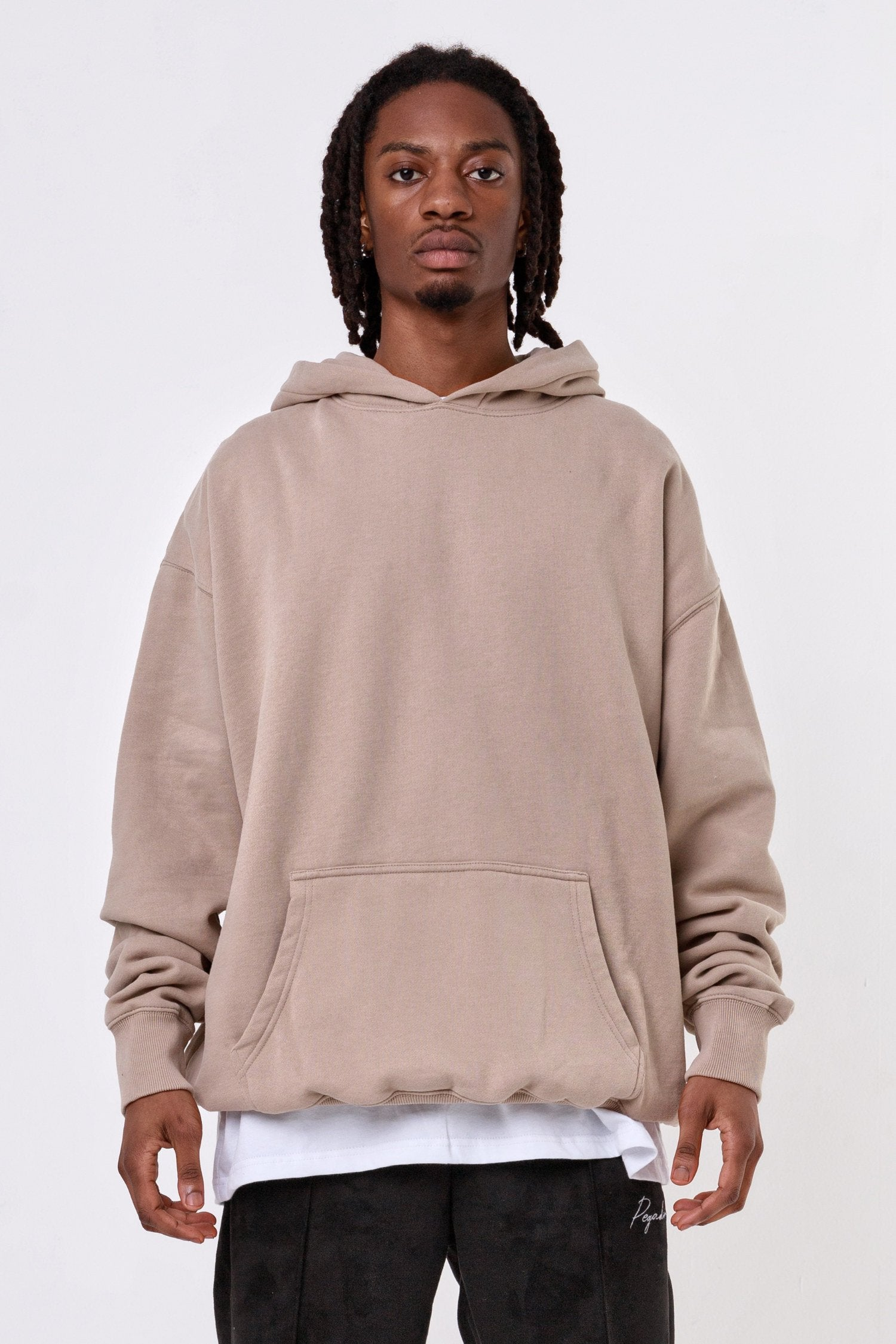 Heavy Oversized Hoodie Washed Taupe Hoodies One blood