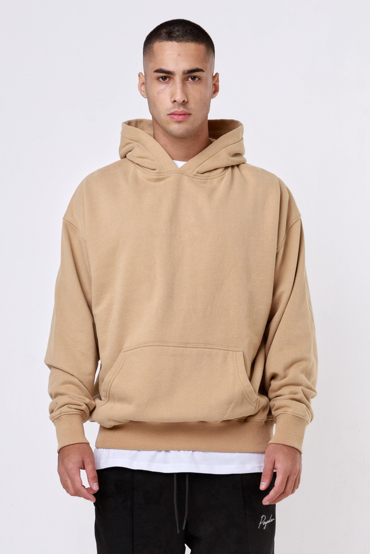Heavy Oversized Hoodie Washed Cappuccino Hoodies One blood