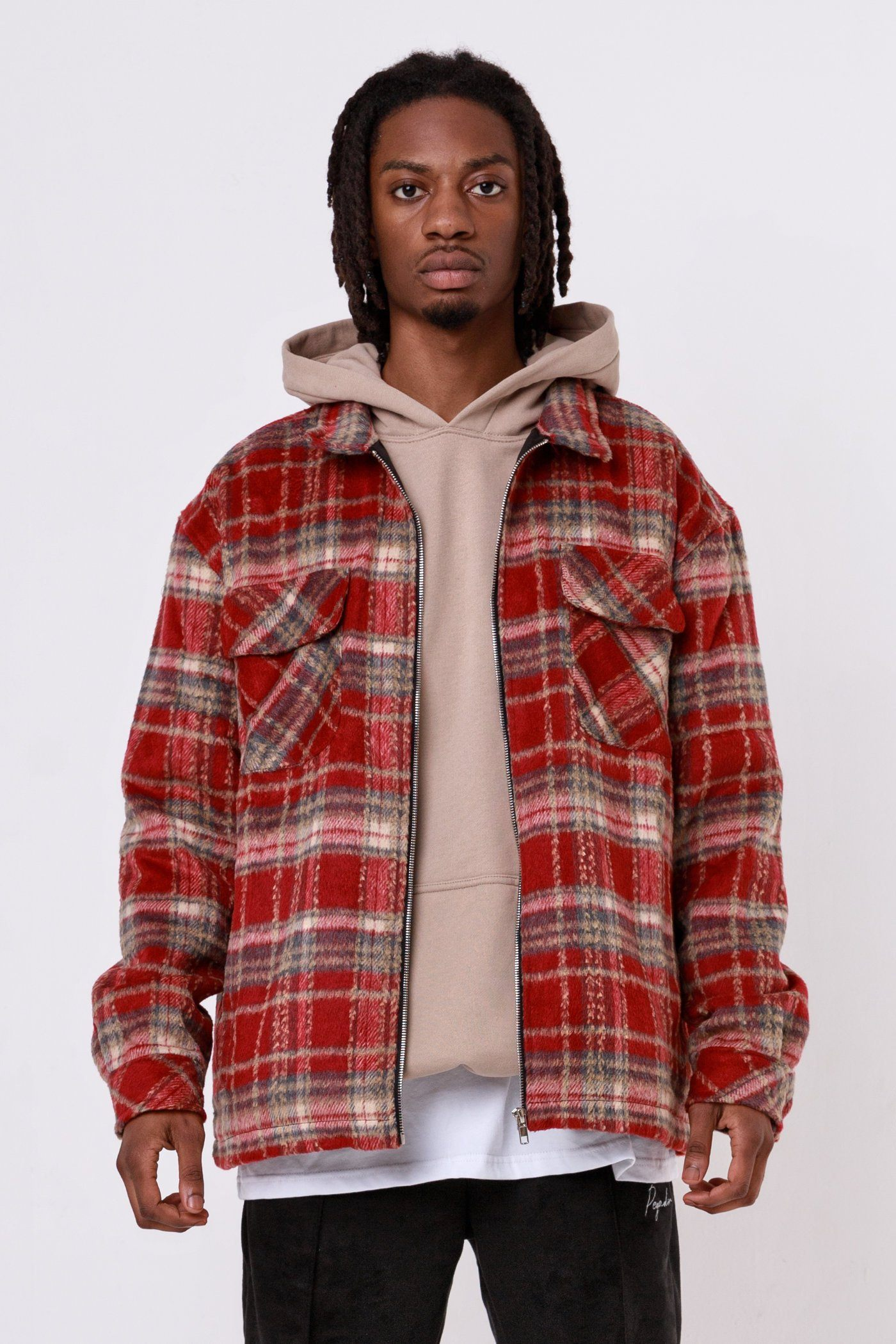 Alvo Hairy Flannel Jacket Blood Red JACKET One blood