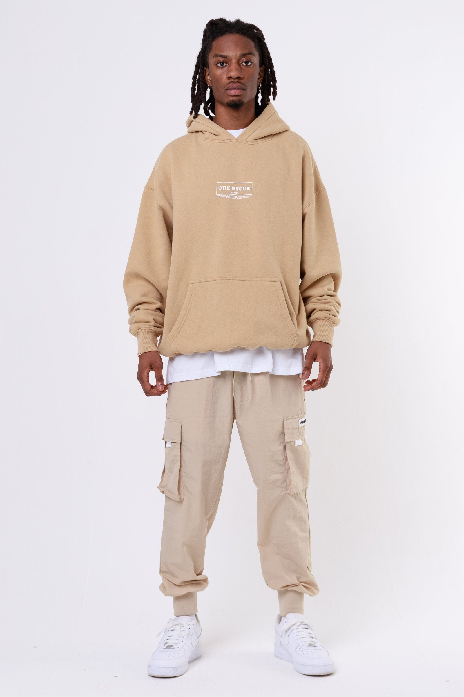 Malibu Oversized Hoodie Washed Cappuccino Hoodies One blood