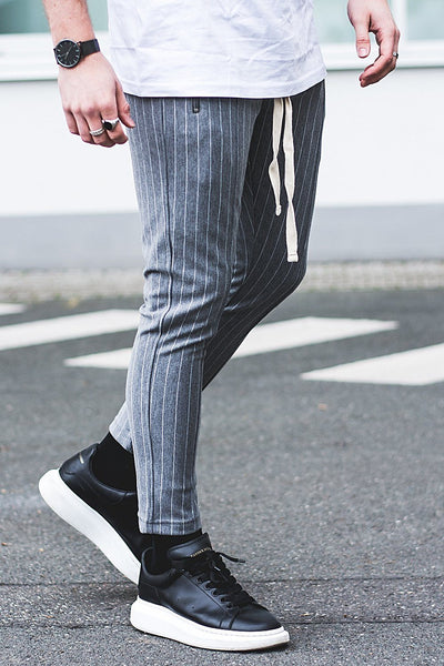 Clooney Pinstripe Pants Grey - PEGADOR - Dominate the Hype