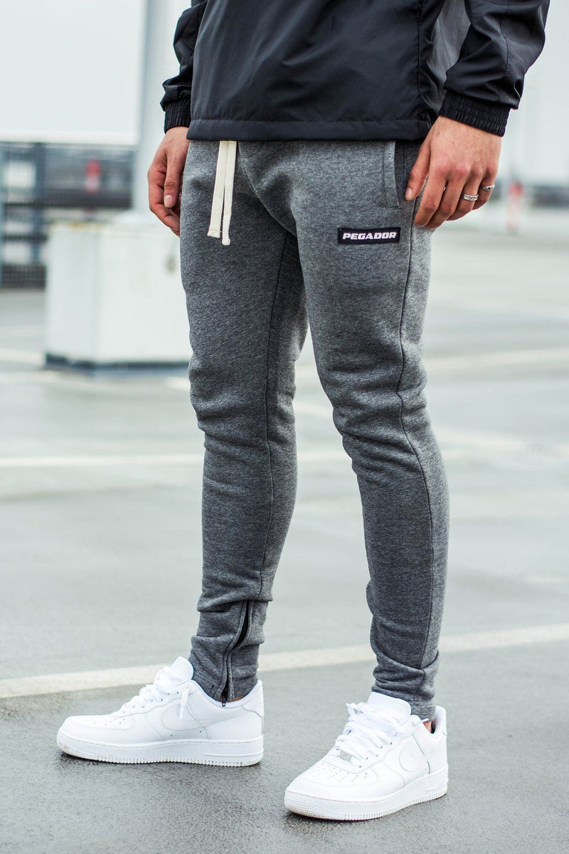 Bareto Sweatpants Dark Grey Melange - PEGADOR - Dominate the Hype
