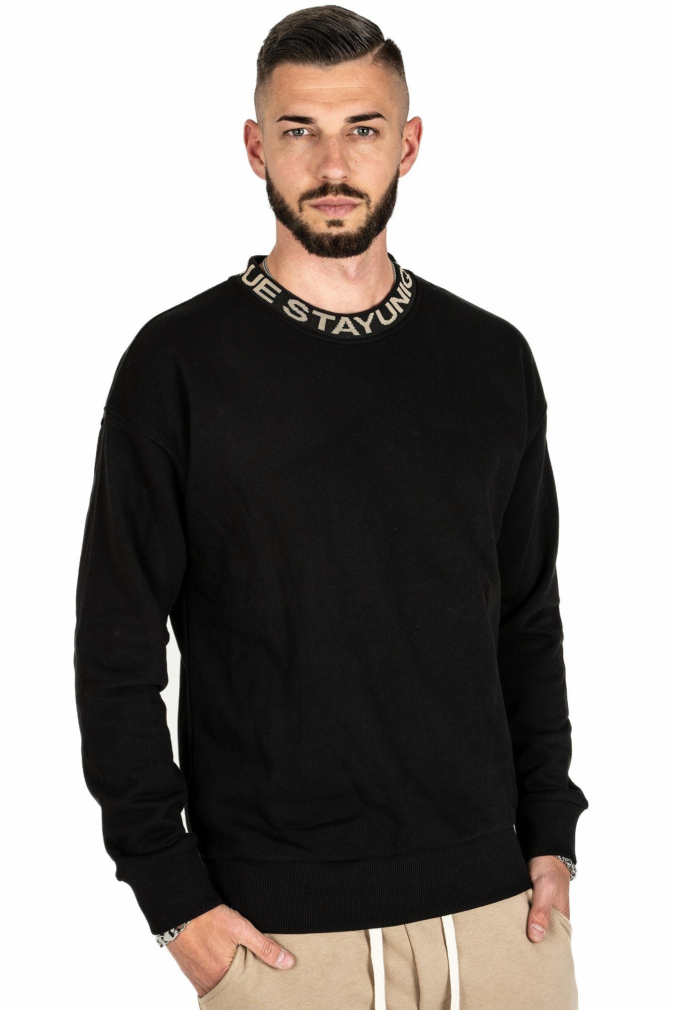 Fio Oversized Crewneck Black SWEATER PEGADOR