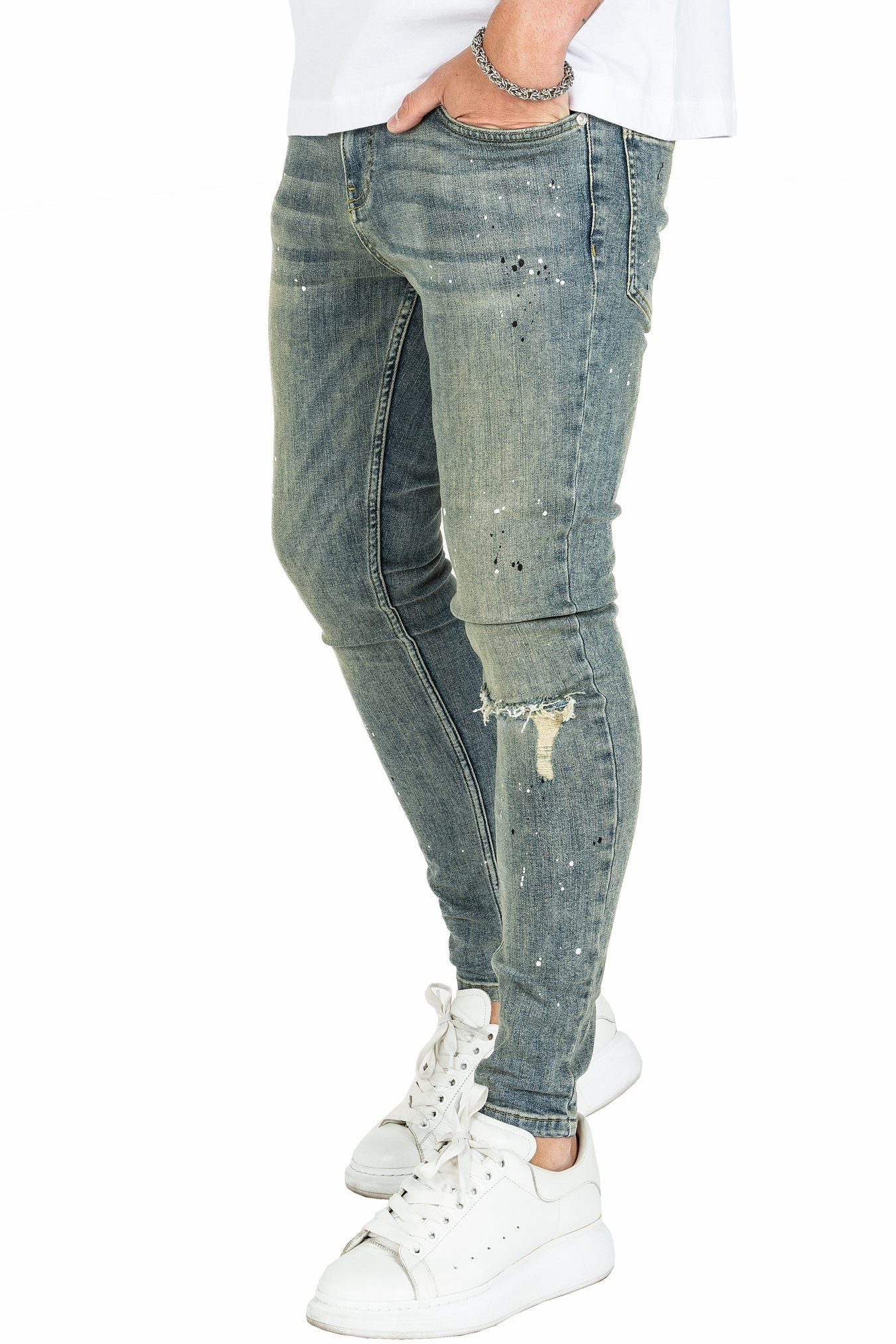 Fio Destroyed Jeans Sand Washed Blue - PEGADOR - Dominate the Hype
