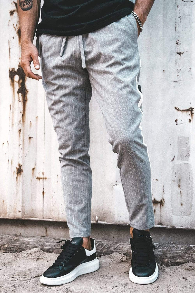 Vigo Pinstripe Pants Grey White - PEGADOR - Dominate the Hype
