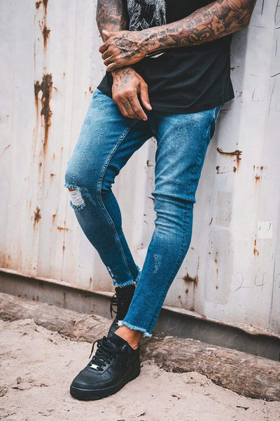 Valencia Cropped Jeans Mid Blue - PEGADOR - Dominate the Hype
