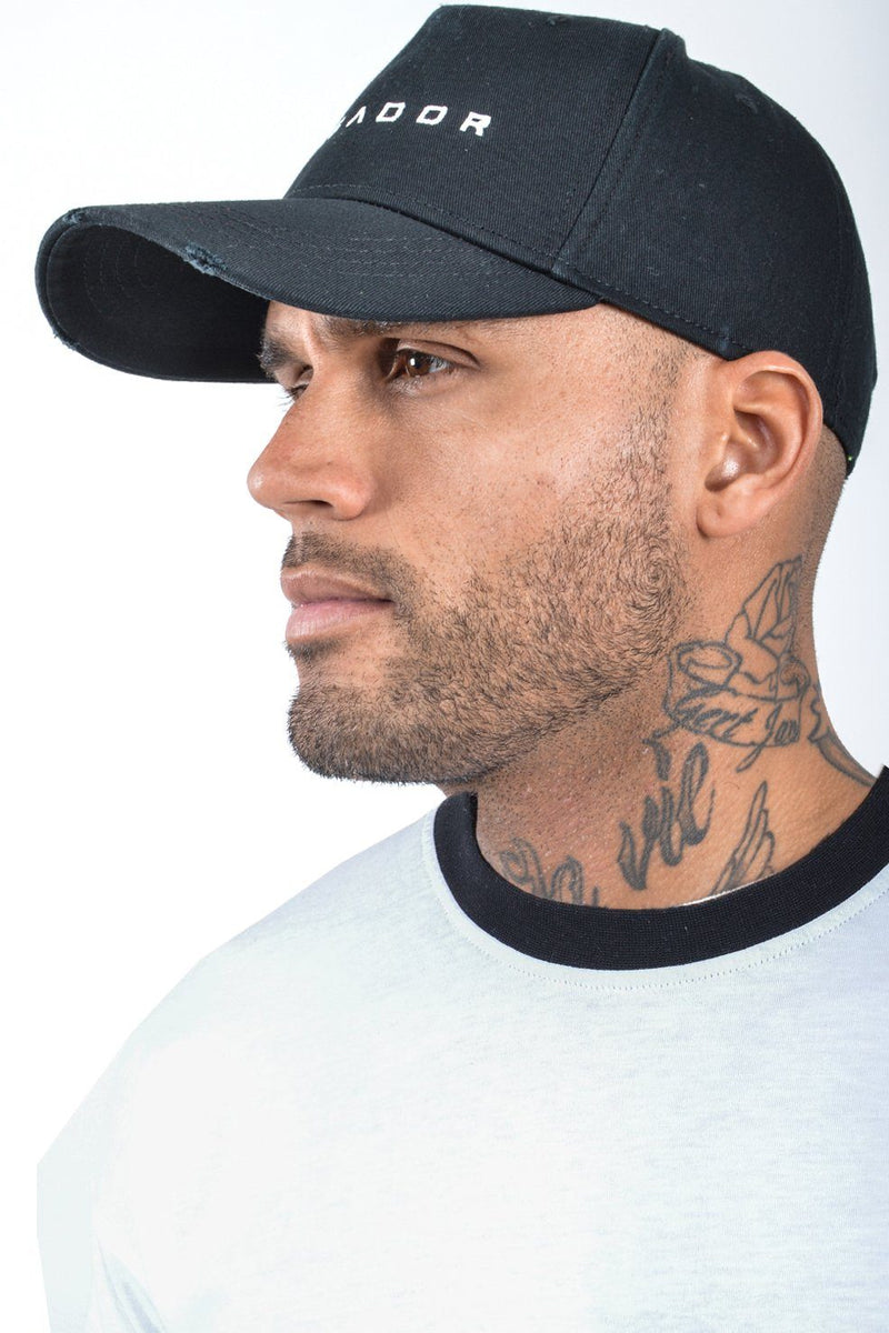 Logo Destroyed Cap Black - PEGADOR - Dominate the Hype