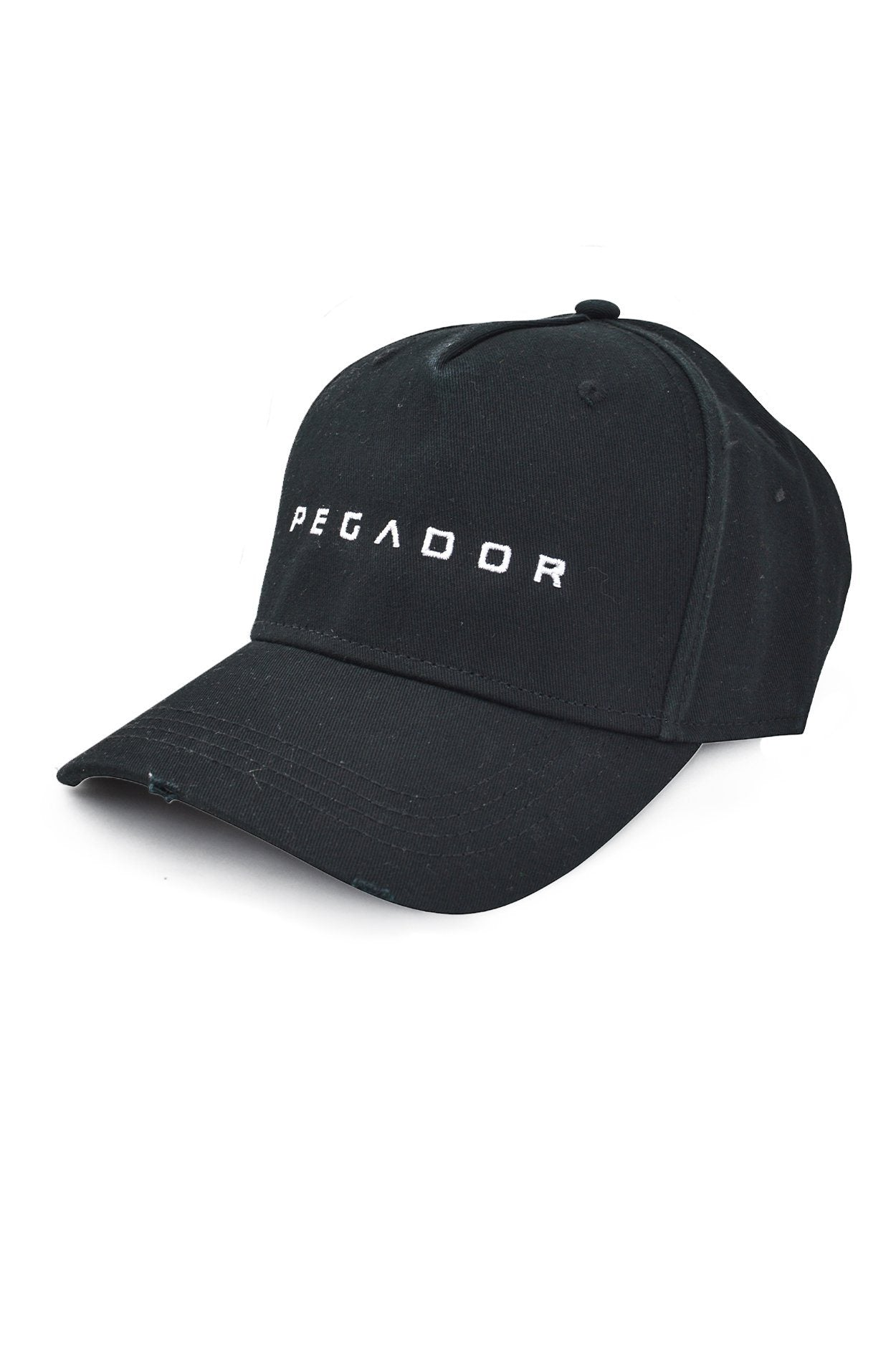 Logo Destroyed Cap Black SNAPBACK PEGADOR