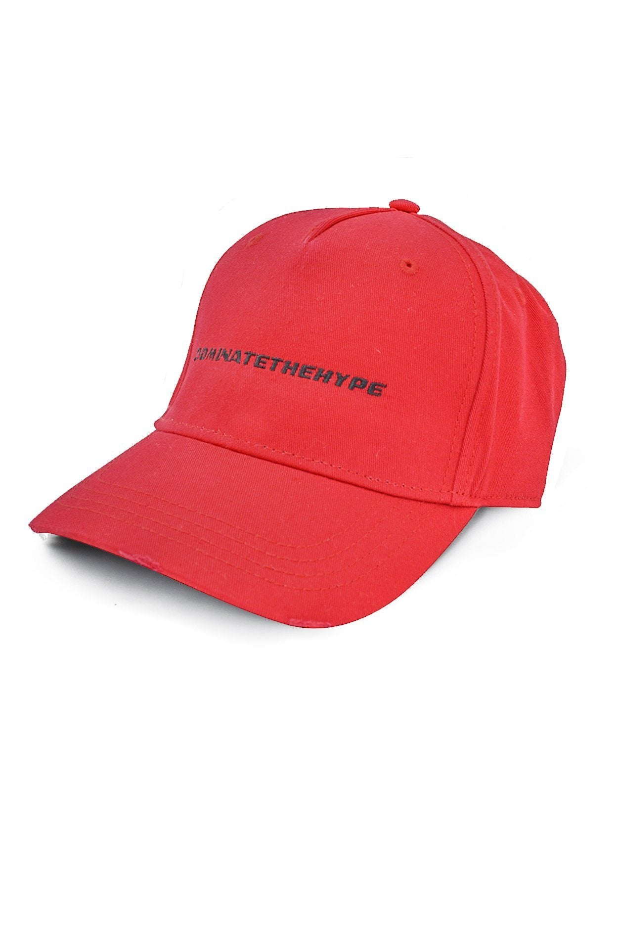 Dominate The Hype Destroyed Cap Red SNAPBACK PEGADOR