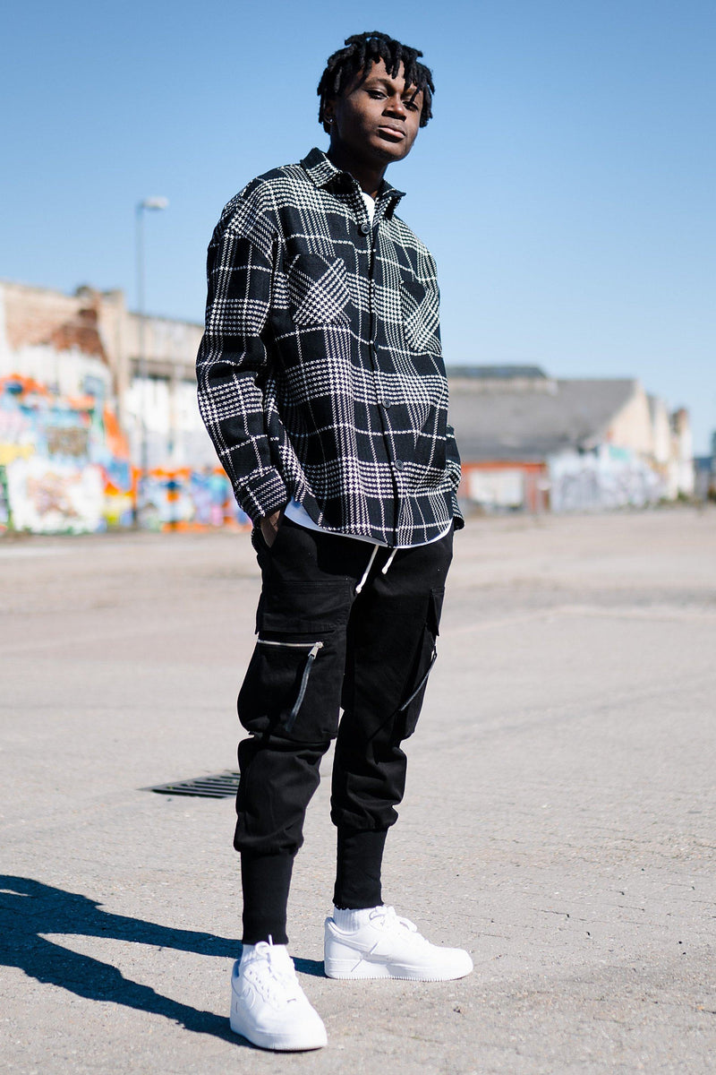 Sydney Round Heavy Flannel Shirt Black - PEGADOR - Dominate the Hype