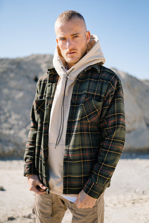 PEGADOR - Flato Heavy Flannel Shirt Forest Green - $69.95