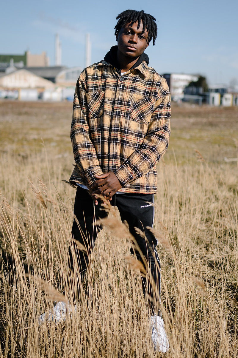 Flato Heavy Flannel Shirt Desert Sand - PEGADOR - Dominate the Hype