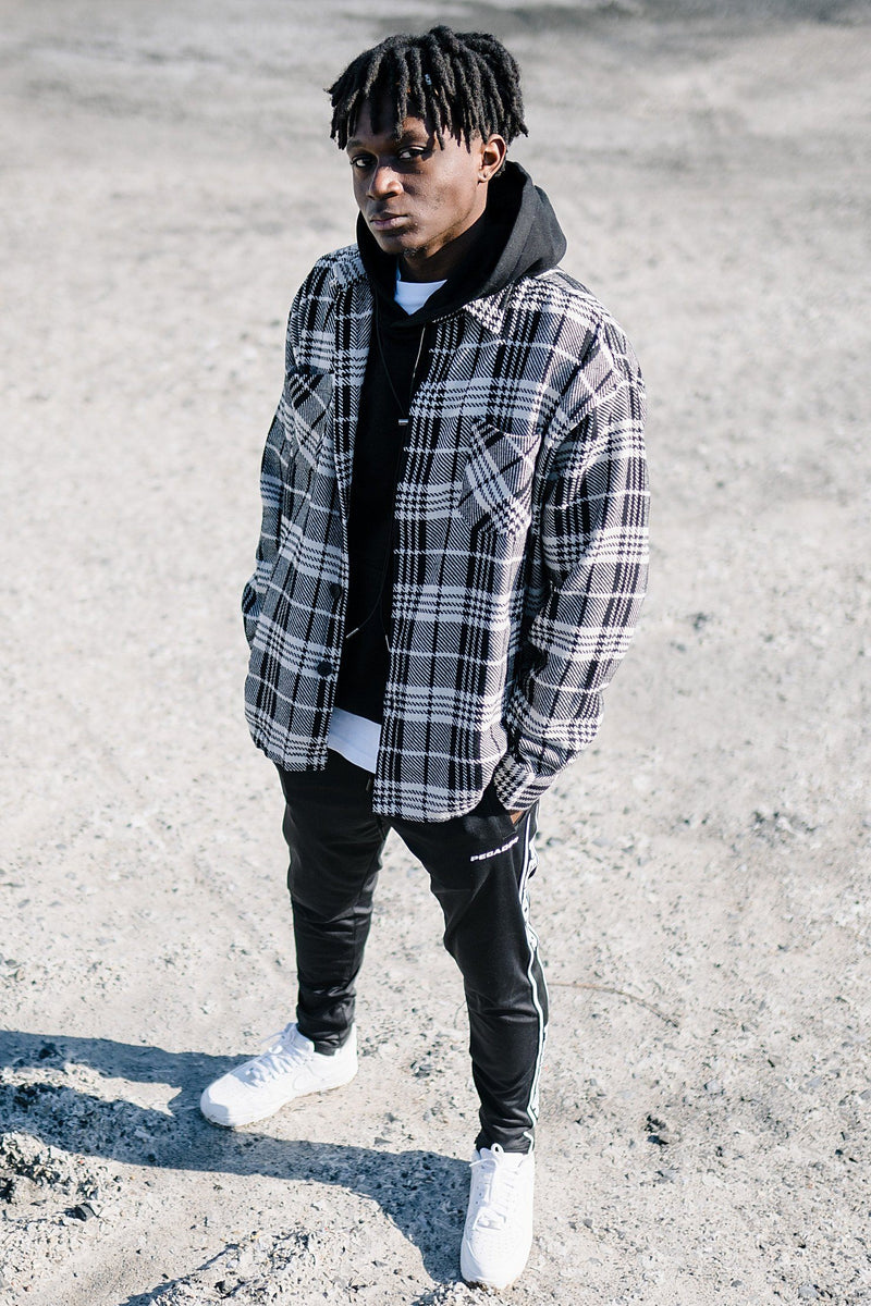 Flato Heavy Flannel Shirt Night White - PEGADOR - Dominate the Hype