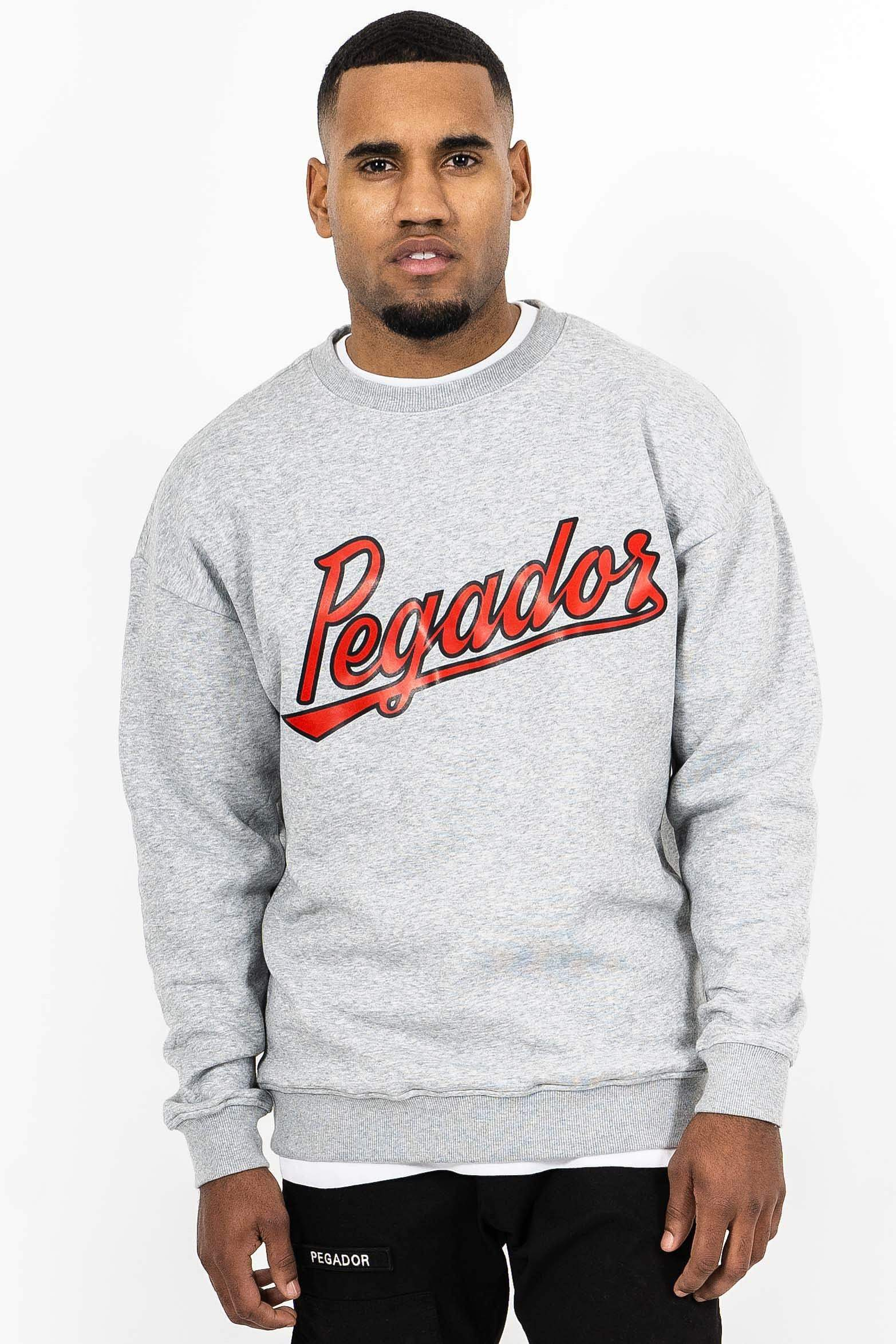 Tyler Oversized Crewneck Grey Melange SWEATER PEGADOR