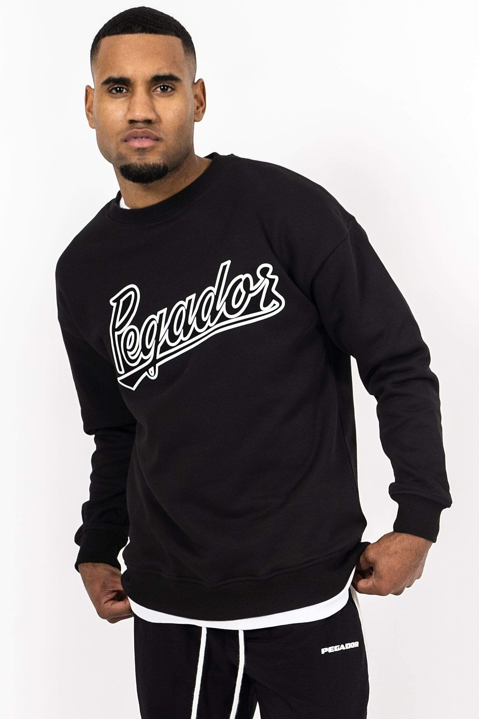 Tyler Oversized Crewneck Black SWEATER PEGADOR