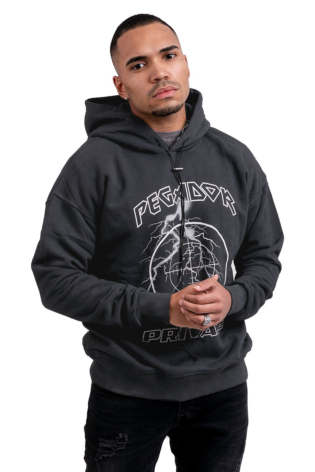 Diogo Hoodie Washed Black