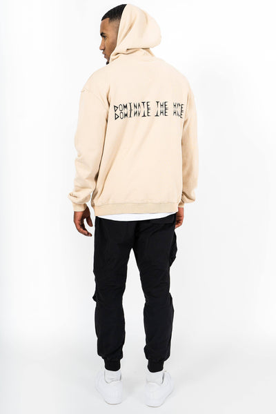 Colon Oversized Hoodie Washed Sand - PEGADOR - Dominate the Hype