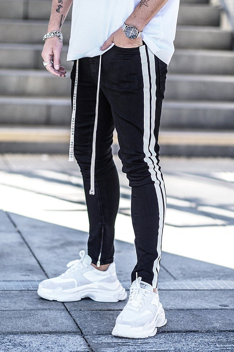 Bobson Clean Stripe Denim Black - PEGADOR - Dominate the Hype