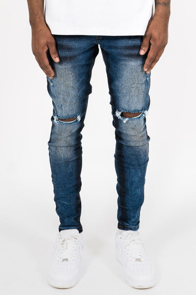 Allen Destroyed Jeans Vintage Blue - PEGADOR - Dominate the Hype