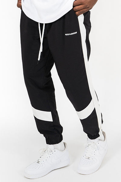 Oran Woven Stripe Pants Black White - PEGADOR - Dominate the Hype