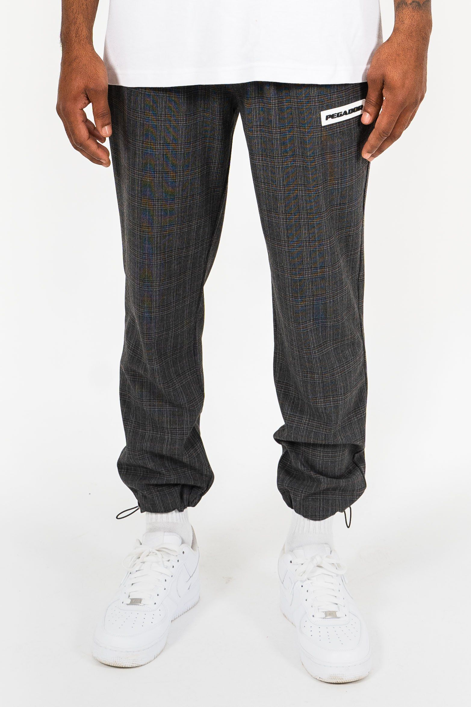 Palma Checkered Pants Dark Grey PANTS PEGADOR