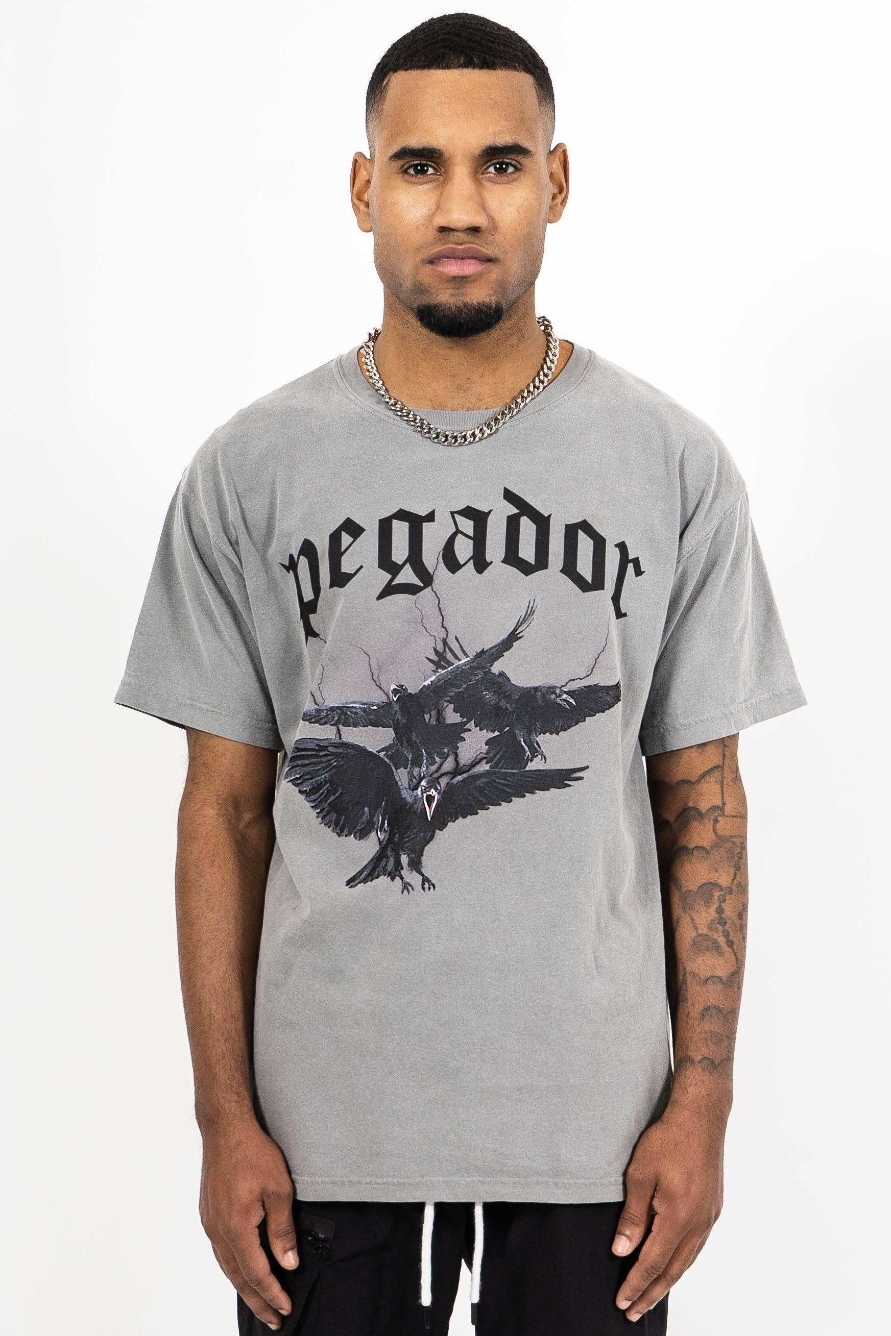 Colon Oversized Tee Washed Grey T-SHIRT PEGADOR