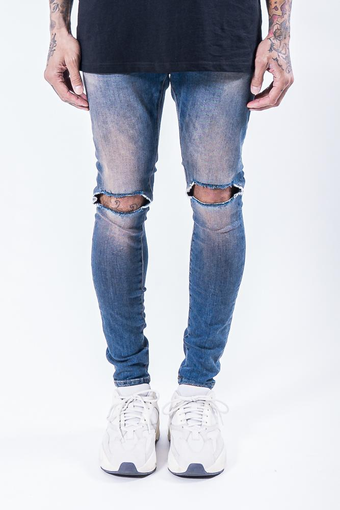 Brito Knee Destroyer Jeans Sand Blue