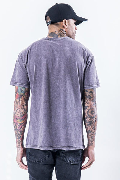 Romo Logo Tee Washed Grey - PEGADOR - Dominate the Hype