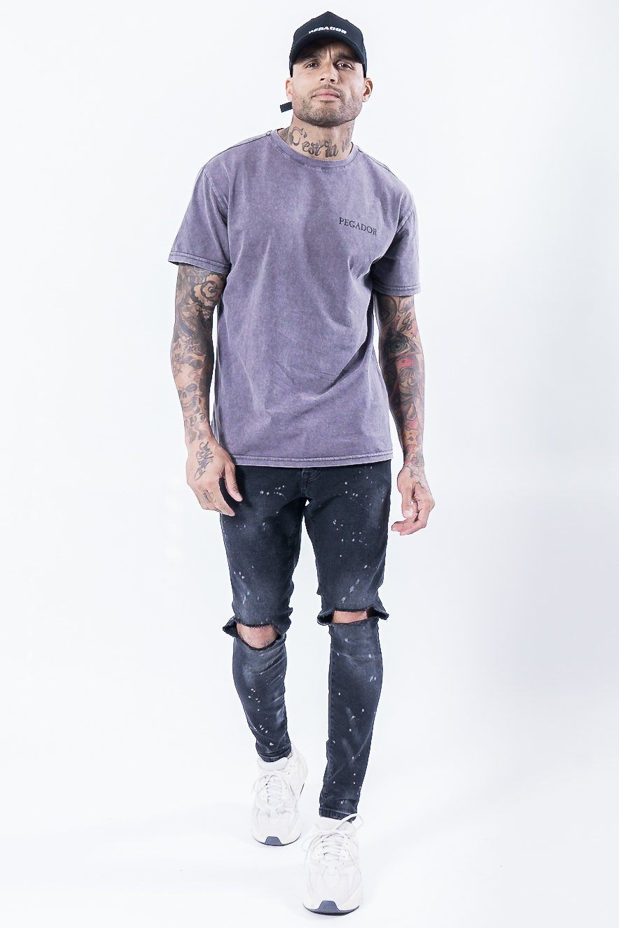 Romo Logo Tee Washed Grey T-SHIRT PEGADOR