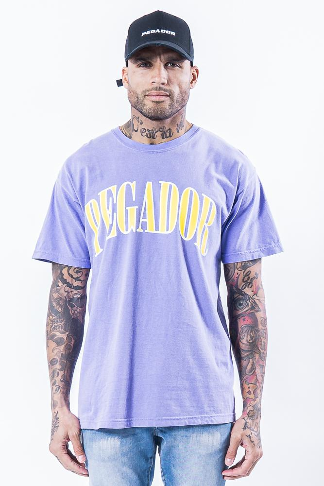 Cali Oversized Tee Washed Violet T-SHIRT PEGADOR
