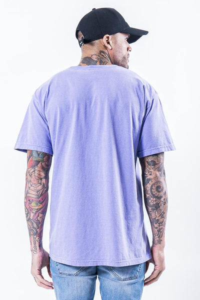 Cali Oversized Tee Washed Violet