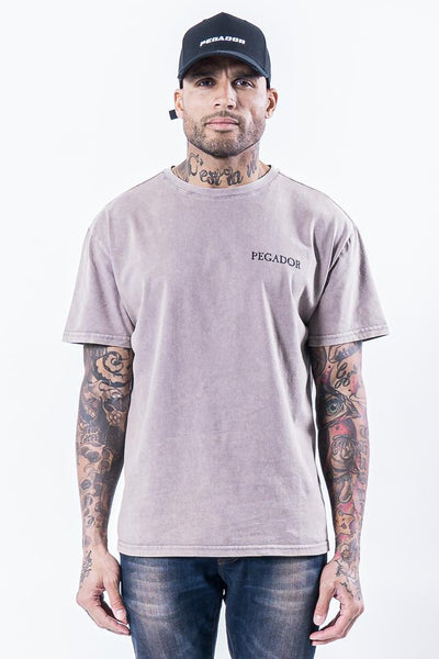 Romo Logo Tee Washed Sand - PEGADOR - Dominate the Hype