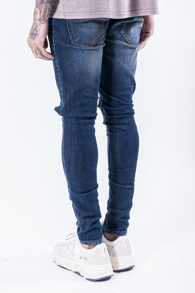 Brito Knee Destroyer Jeans Dark Blue
