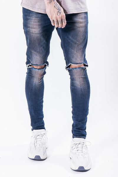 Brito Knee Destroyer Jeans Dark Blue - PEGADOR - Dominate the Hype