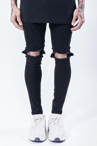 Brito Knee Destroyer Jeans Black - PEGADOR - Dominate the Hype