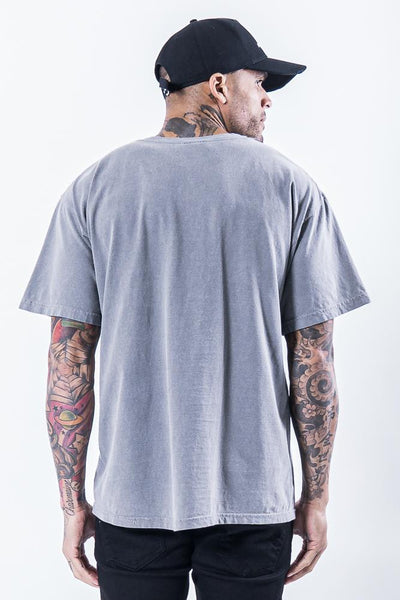 Hell Eye Oversized Tee Washed Grey