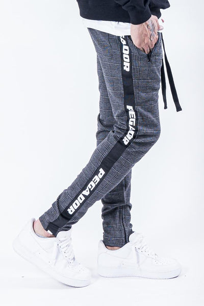 Sengo Checkered Logo Pants Black - PEGADOR - Dominate the Hype
