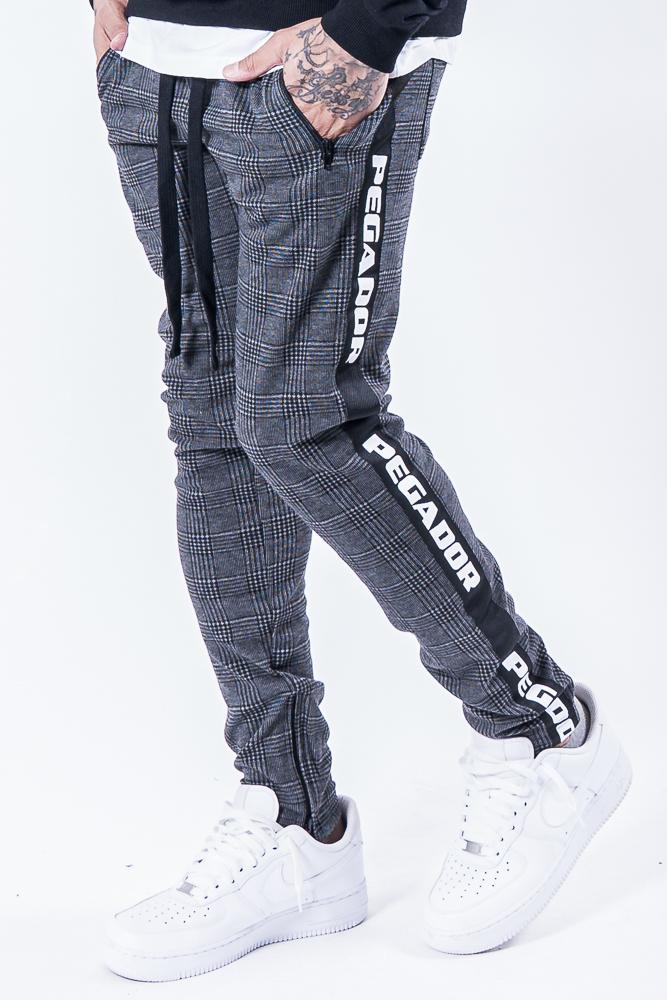 Sengo Checkered Logo Pants Black