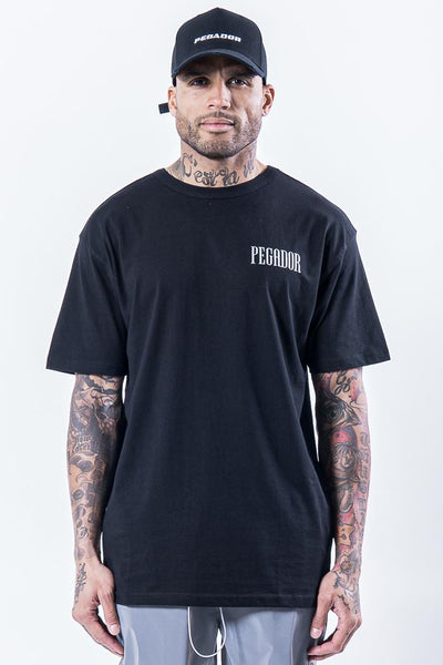 Mum Oversized Tee Black Reflective - PEGADOR - Dominate the Hype