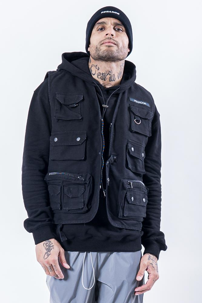 Yalca Utility Vest Black - PEGADOR - Dominate the Hype