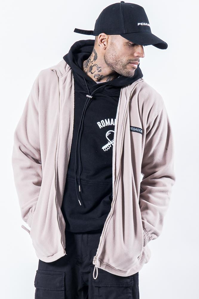Turin Fleece Jacket Stone - PEGADOR - Dominate the Hype