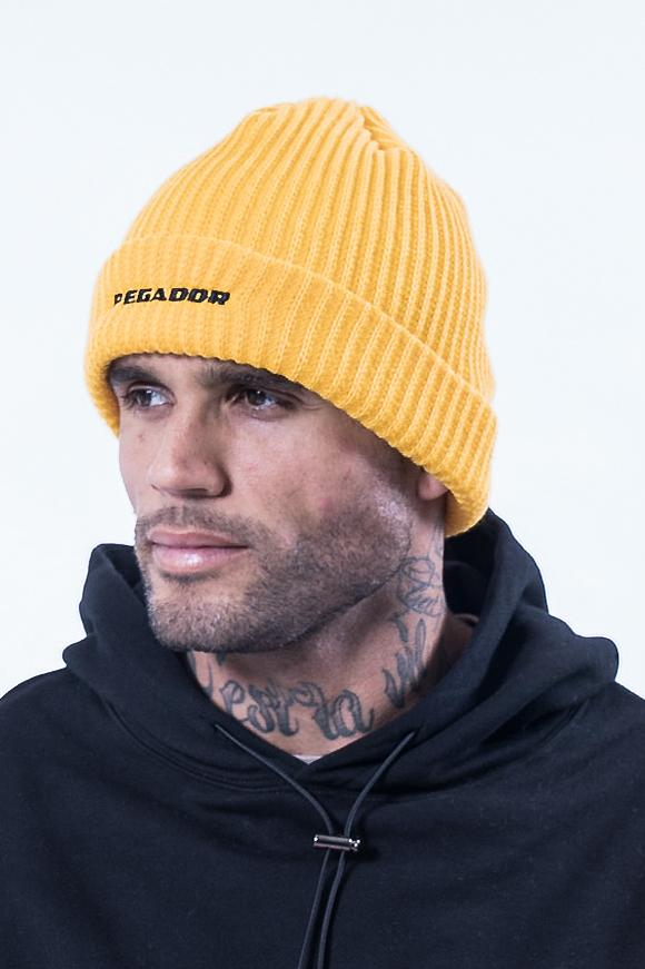 Rongo Logo Rib Beanie Yellow - PEGADOR - Dominate the Hype
