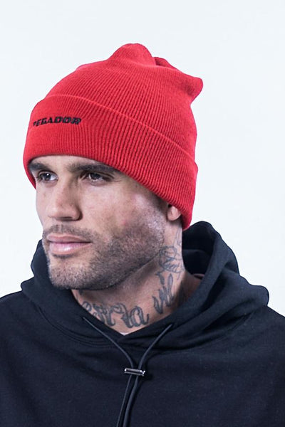 Xanto Logo Beanie Red - PEGADOR - Dominate the Hype