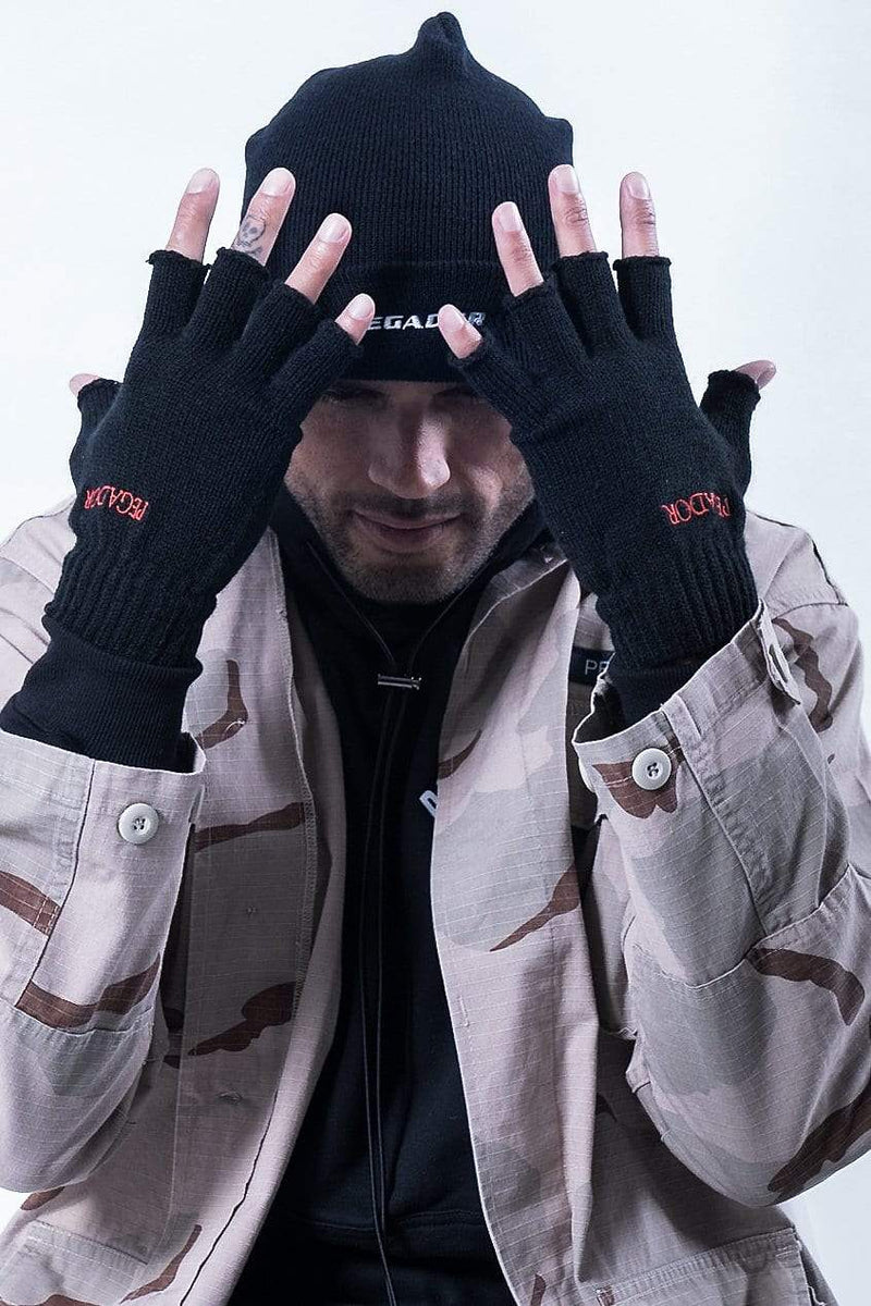 Vento Fingerless Gloves Black - PEGADOR - Dominate the Hype