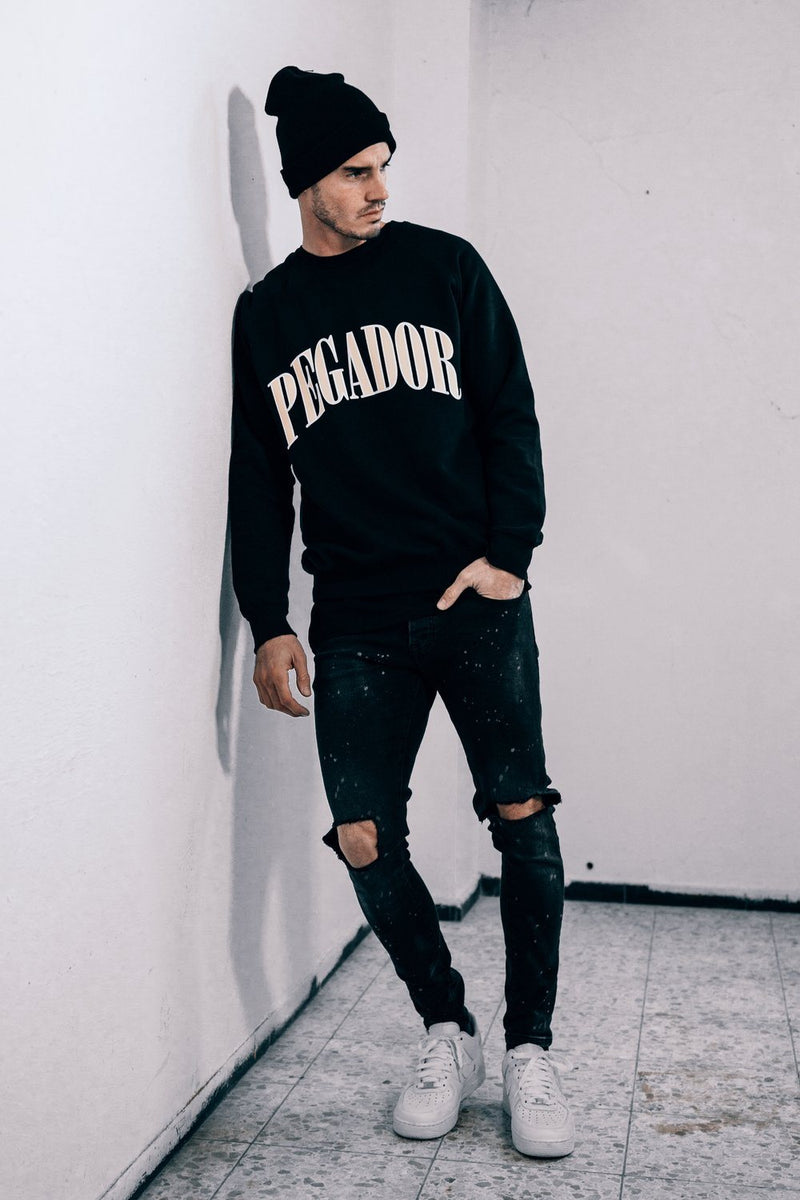 Cali Oversized Crewneck Black