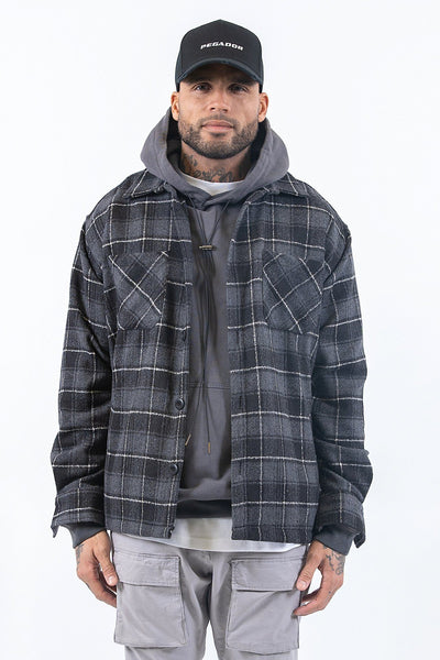 Flato Heavy Flannel Shirt Granite - PEGADOR - Dominate the Hype
