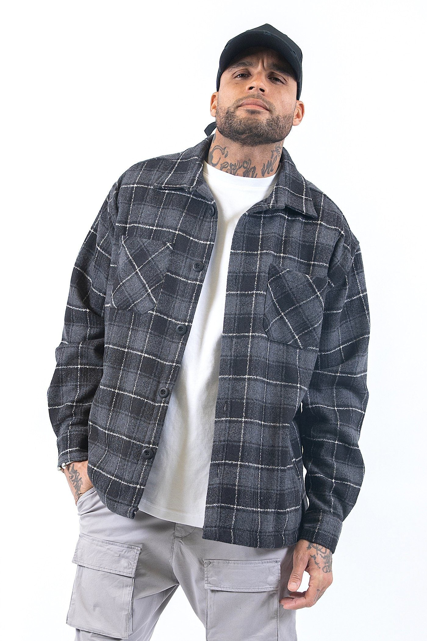 Flato Heavy Flannel Shirt Granite SHIRT PEGADOR