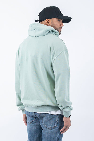 Oversized Basic Hoodie Washed Mint - PEGADOR - Dominate the Hype
