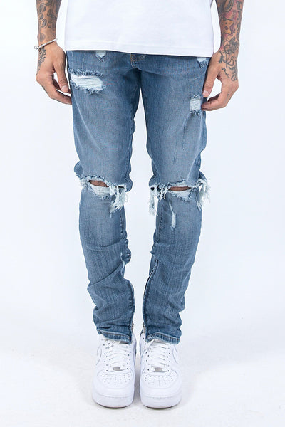 Mitu Distressed Jeans Vintage Blue - PEGADOR - Dominate the Hype