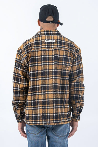 Flato Heavy Flannel Shirt Sand - PEGADOR - Dominate the Hype